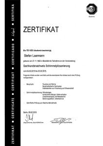 Tüv Süd Zertifikat Sachkundenachweis Schimmelpilzsanierung